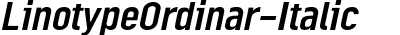 LinotypeOrdinar-Italic
