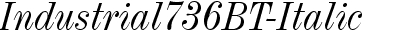 Industrial736 BT Italic