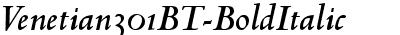 Venetian 301 Bold Italic BT