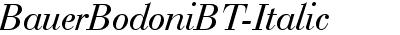 BauerBodoniBT-Italic