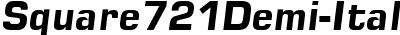 Square721Demi-Italic