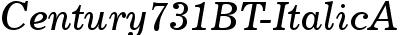 Century731 BT Italic