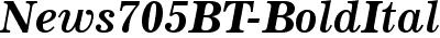 News705 BT Bold Italic