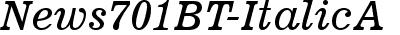 News701 BT Italic