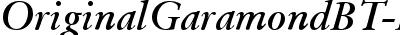 OrigGarmnd BT Bold Italic