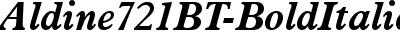 Aldine721BT-BoldItalic