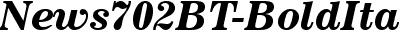 News702 BT Bold Italic
