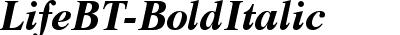 LifeBT-BoldItalic