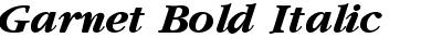 Garnet Bold Italic