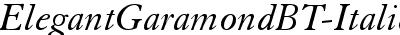ElegantGaramondBT-Italic