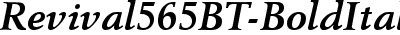 Revival565BT-BoldItalic