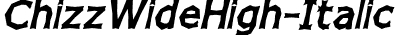 ChizzWideHigh-Italic