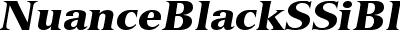 Nuance Black SSi Black Italic