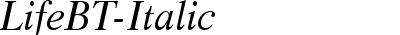 LifeBT-Italic