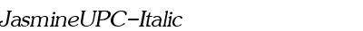 JasmineUPC-Italic
