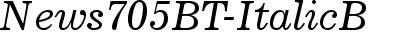 News705 BT Italic