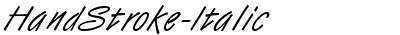 HandStroke-Italic