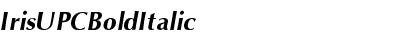 IrisUPC Bold Italic