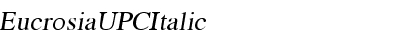 EucrosiaUPC Italic