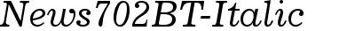 News702 BT Italic