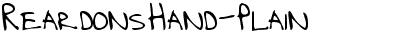 ReardonsHand-Plain