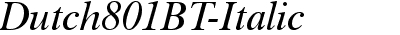 Dutch801BT-Italic