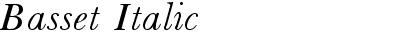 Basset Italic