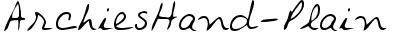 ArchiesHand-Plain
