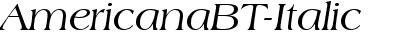 AmericanaBT-Italic