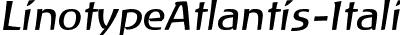 LinotypeAtlantis-Italic