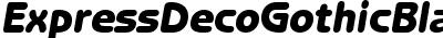 Express Deco GothicBlack SSi Black Italic