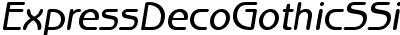 Express Deco Gothic SSi Italic