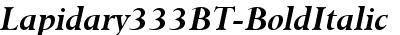 Lapidary333BT-BoldItalic