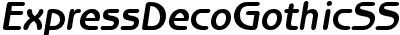 Express Deco Gothic SSi Bold Italic
