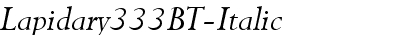 Lapidary333BT-Italic