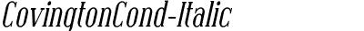 CovingtonCond-Italic