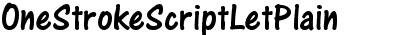 One Stroke Script LET Plain: