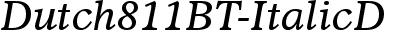 Dutch811BT-ItalicD