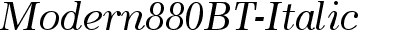 Modern880BT-Italic