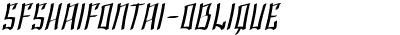 SFShaiFontai-Oblique