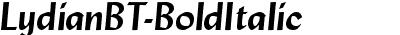 LydianBT-BoldItalic