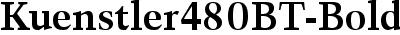 Kuenstler480BT-Bold
