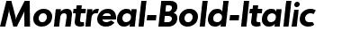Montreal-Bold-Italic