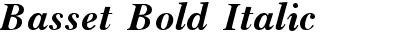 Basset Bold Italic