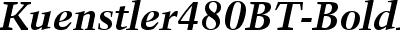 Kuenstler480BT-BoldItalic