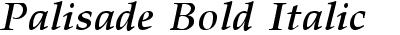 Palisade Bold Italic