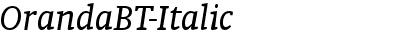 OrandaBT-Italic