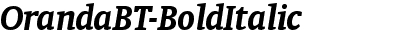 OrandaBT-BoldItalic