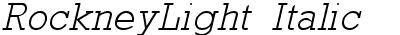 RockneyLight Italic
