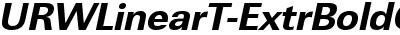URWLinearT-ExtrBoldObli